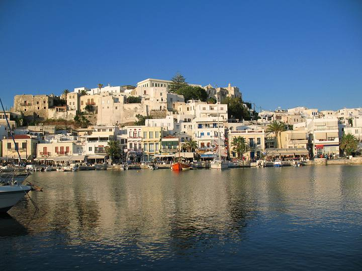 Naxos Town, view from marina